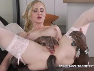 Extreme bondage handjob helena valentine debuts 4 private in interracial anal!, private.com helena v
