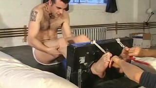 Bubbly passionately and feet restrained david tickled soapy washing