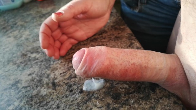 Ruined cumshot For hubby