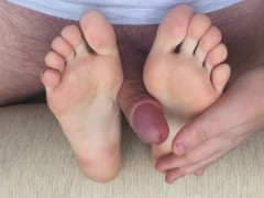 Passive And Active Footjob With Nice View And Massive Cum On Toes
