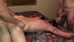 Cheating Wife Cream Pied & Gang Banged While Her Husband Was At Work