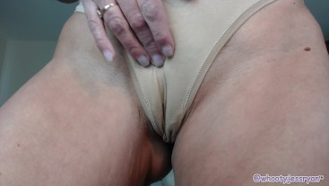 Tan Pantie Custom Stuffing For David Twerking and Ass Spreading