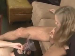 Ffm college threesome femdom drink his spunk, cfnm femdom eat cum humiliation handjob