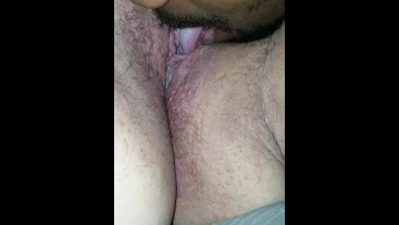 Licking my wife wet pussy