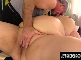 Karen sexy girl mature bbw lady lynn gets her beautiful body worshipped by old masseur, jeffsmodels