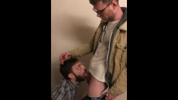 Office Stairwell Blowjob Exchange