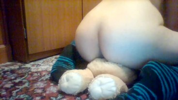 Humping my lion teddy bear ♥