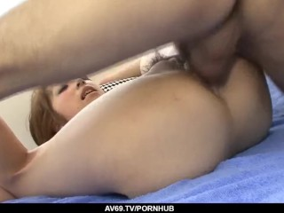 Saki Asaoka fucked hard and made to swallow sperm – More at 69avs com
