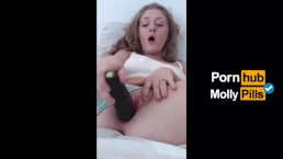 Huge Cucumber Stretches Tight Pussy Vertical Video - Molly Pills