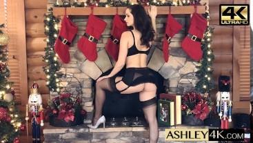 Classy Goddess Stockings Striptease Ashley Sinclair