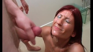 Huge unwanted facial cumshots
