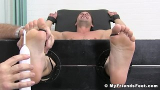 Young hunk Aldo turns helpless during torment fetish