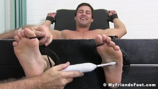 Young hunk Aldo turns helpless during torment fetish College ass