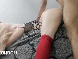 Horny College Teen Rides Dick Hard Then Fucked Til They Both Cum {creampie}