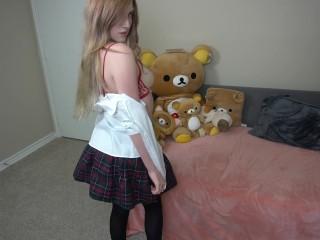 Ebony model and pantyhose