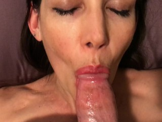 Bianca beauchamp orgasm hot milf laying on her back and giving the best blowjob ever cim swallow, pe