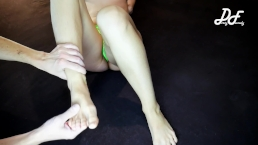 Home Made Tickling Feets in Green Panties ~DirtyFamily~