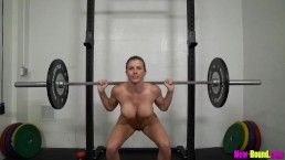 Muscle Milf Works Out Naked - Cory chase