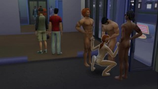 creampie orgy at the gym - multiple creampies - face cumshaw