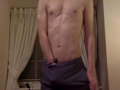 Hot British Chav Wanks on Webcam and Cums Buckets