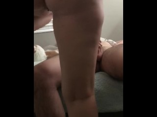 Amateur turkish fuck girlfriend rides the cum out of me, creampie riding dick cum inside me
