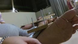 BDSM Femdom handjob torture