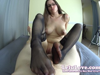 Big woman xvideo lelu love-pov stockings footjob bj sex facial cumshot, lelu lelu love amateur homemade fetish