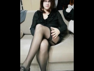 Patty Crossdresser the black Bodystocking
