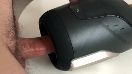Fleshlight Launch milking me dry (with cumshot)