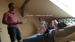 Backstage Tennis with Lucie and Other Leon Girls (Lola is also there)
