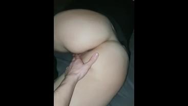 Tired perfect bubble butt girlfriend fucked pov