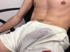 Guy Moaning Loud - Cum No Hands In Pants