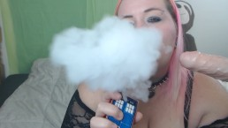 Vaping blowjob JOI BBW vape fetish