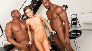 Tina Kay Tries Interracial DP