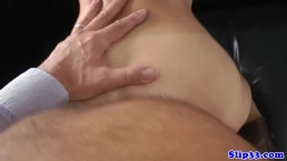 Teen POV banged on all fours by senior
