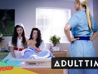 GIRLCORE Lesbian Nurses Give Teen Patient Full Vaginal Exam main image