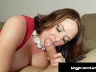 Filthy Forty Maggie Green Face Fucks A Cock For Her Bday!