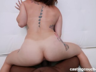 Cute PAWG Enjoys Her First Black Guy During Audition