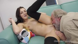 Old Goes Young – Talented Cutie Rides Old Dick In Cowgirl Style PornHD