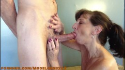 Step mom sucks off step sons best friend
