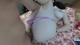 Amateur anaal met grote tieten tienervriendin-cum in haar kont