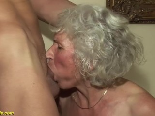 75 grandma first porn video...