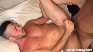 Dicksucking stud cums while anally drilled Booty anal