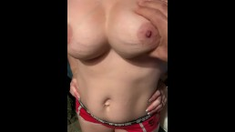 Morning titty massage on this hot milf