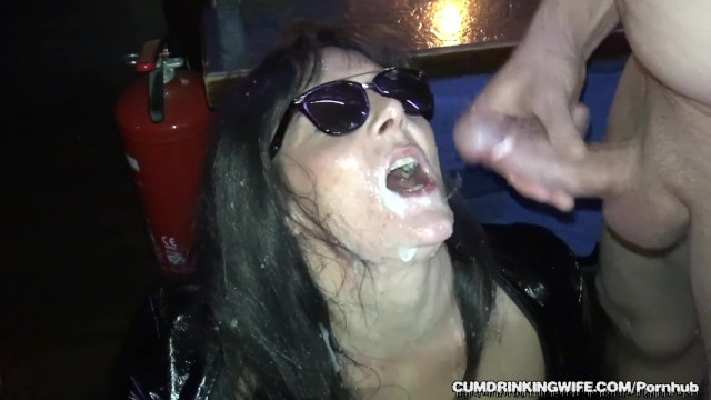 Loads of cum bar tits swinger naked drinks Slutwife gangbanged by over 20 guys at a bar