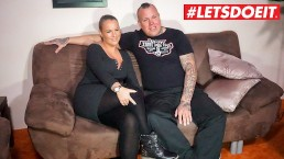 LETSDOEIT - German Tattooed Couple Fucks For the First Time on Tape