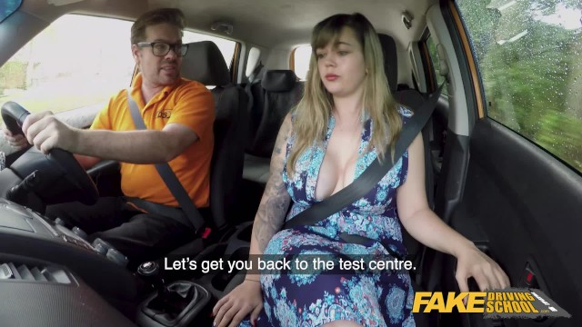 Russian sex lessons - Fake driving school massive british boobs one last lesson
