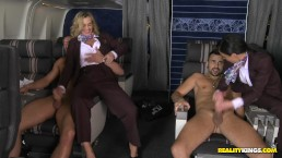 RealityKIngs- Milf flight attendants Tonya & Veronica get their ass fucked