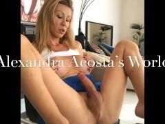 Beautiful Shemale with big cock masturbating