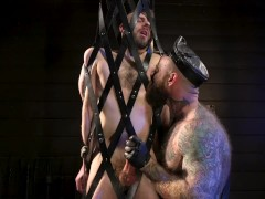 Leather Daddy Jack Dixon makes William Crown worship his leather